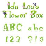 Sizzix - Sizzlits Die - Die Cutting Template - Alphabet Set - 12 Medium Dies - Ida Lou's Flower Box, CLEARANCE