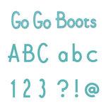 Sizzix - Sizzlits Die - Die Cutting Template - Alphabet Set - 12 Medium Dies - Go Go Boots