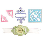 Sizzix - Sizzlits Die - Die Cutting Template - 4 Pack - Small - Elegant Enhancements Set, CLEARANCE