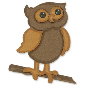 Sizzix - Sizzlits Die - Die Cutting Template - Medium - Owl with Branch