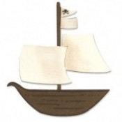 Sizzix - Bigz Die - Die Cutting Template - Pirate Ship, CLEARANCE