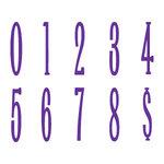 Sizzix - Bigz Die - Die Cutting Template - Go Slim Numbers Etc. Set, CLEARANCE