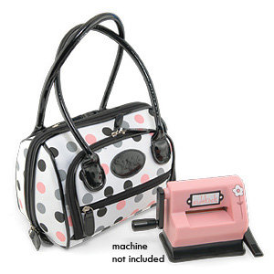 Sizzix - Accessory - Sidekick Handbag - White with Polka Dots