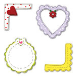 Sizzix - Sizzlits Die - Die Cutting Template - 3 Pack - Small - Frames and Corners Set, CLEARANCE