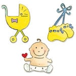Sizzix - Sizzlits Die - Die Cutting Template - 3 Pack - Small - Baby Set 5, CLEARANCE