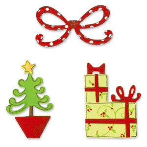 Sizzix - Sizzlits Die - Christmas Collection - Die Cutting Template - 3 Pack Small - Christmas Set 5, CLEARANCE