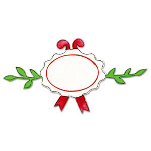Sizzix - Originals Die - Christmas Collection - Die Cutting Template - Large - Swag Tag, CLEARANCE
