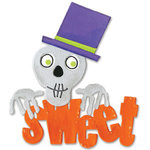 Sizzix - Bigz Die - Die Cutting Template - Halloween - Sweet Phrase with Skull, CLEARANCE