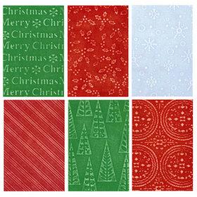 Sizzix - Texturz - Ornament Collection - Christmas - Texture Plates - Kit 13