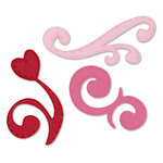 Sizzix - True Love Collection - Sizzlets Die - Die Cutting Template - 3 Pack - Medium - Fancy Flourishes Set