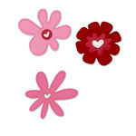 Sizzix - True Love Collection - Sizzlets Die - Die Cutting Template - 3 Pack - Medium - Valentine Flower Set, CLEARANCE