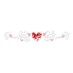 Sizzix - True Love Collection - Sizzlets Decorative Strip Die - Die Cutting Template - Lace Heart with Flourishes, CLEARANCE