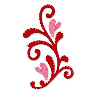 Sizzix - True Love Collection - Originals Die - Die Cutting Template - Flourish, CLEARANCE
