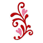 Sizzix - True Love Collection - Originals Die - Die Cutting Template - Flourish, CLEARANCE