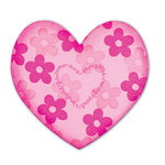 Sizzix - Bigz Clear Die - Die Cutting Template - Heart, CLEARANCE