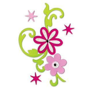 Sizzix - Bigz Die - Hello Kitty Collection - Die Cutting Template - Flower Bouquet