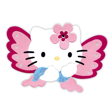 Hello kitty butterfly. Sizzix bigz die collection