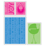 Sizzix - Textured Impressions - Embossing Folders - Baby Set, CLEARANCE