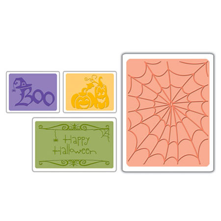 Sizzix - Textured Impressions - Embossing Folders - Halloween Set