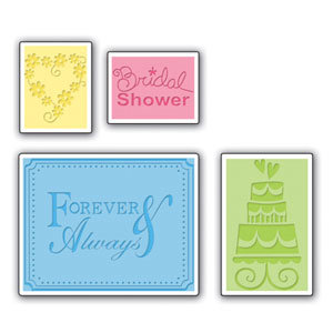 Sizzix - Textured Impressions - Embossing Folders - Wedding Set, CLEARANCE