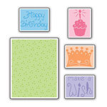 Sizzix - Textured Impressions - Embossing Folders - Birthday Set 2