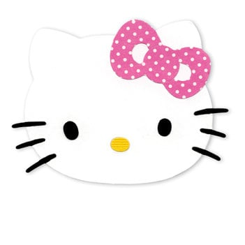 Sizzix - Sizzlits Die - Hello Kitty Collection - Die Cutting Template - Medium - Hello Kitty Face with Bow, CLEARANCE