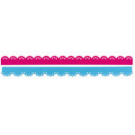 Sizzix - Sizzlits Decorative Strip Die - Hello Kitty Collection - Die Cutting Template - Scallops