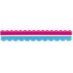 Sizzix - Sizzlits Decorative Strip Die - Hello Kitty Collection - Die Cutting Template - Scallops
