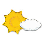 Sizzix - Sizzlits Die - Hello Kitty Summer Collection - Die Cutting Template - Medium - Cloud and Su