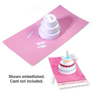 Elegant Sizzix   Bigz Die   Extra Long Die Cutting Template   3 D Pop Up   Cake,  Three Tier
