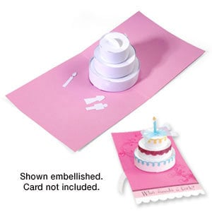 Sizzix   Bigz Die   Extra Long Die Cutting Template   3 D Pop Up   Cake,  Three Tier  Birthday Cake Card Template