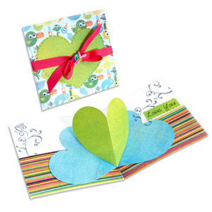 Sizzix - Bigz Die - Extra Long Die Cutting Template - 3-D Pop Up - Card, Heart