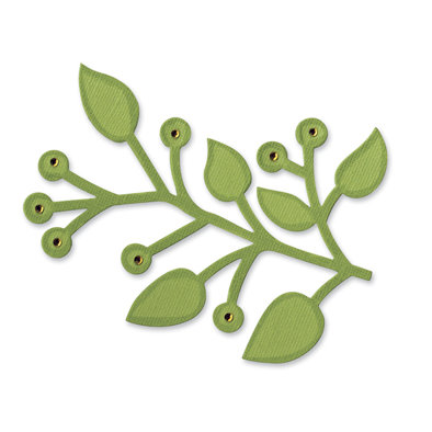 Sizzix - Bigz Die - Designer Boutique Collection - Die Cutting Template - Branch with Leaves