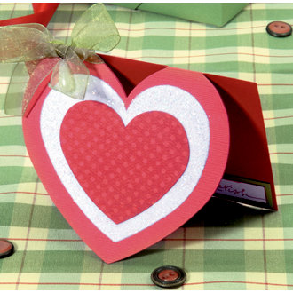 Sizzix - Bigz Die - Designer Boutique Collection - Extra Long Die Cutting Template - Card - Heart with Hearts, CLEARANCE