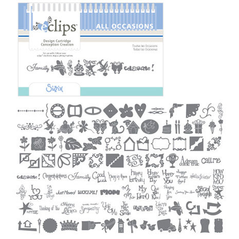 Sizzix - EClips - Electronic Shape Cutting System - Cartridge - All Occasions