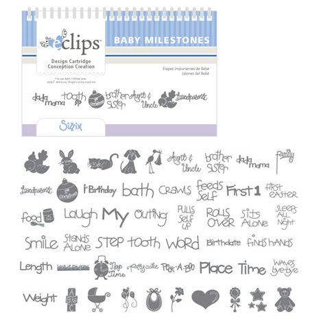 Sizzix - EClips - Electronic Shape Cutting System - Cartridge - Baby Milestones