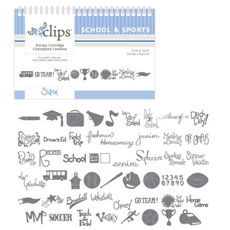 Sizzix - EClips - Electronic Shape Cutting System - Cartridge - School and Sports