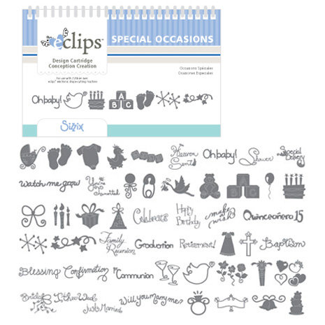 Sizzix - EClips - Electronic Shape Cutting System - Cartridge - Special Occasions