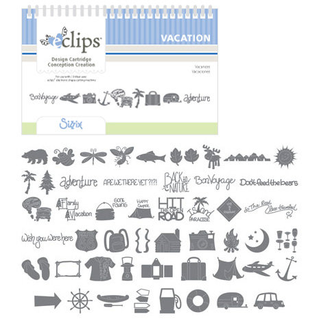 Sizzix - EClips - Electronic Shape Cutting System - Cartridge - Vacation
