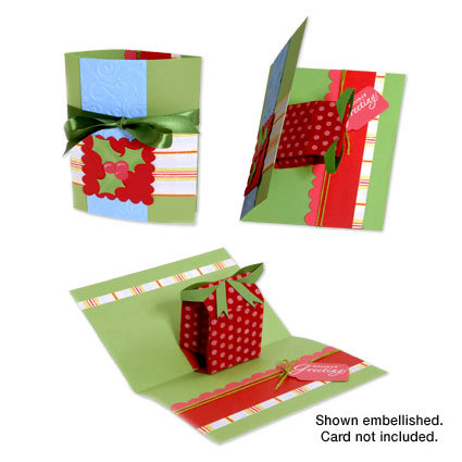 Sizzix - Bigz Die - Christmas Collection - Extra Long Die Cutting Template - 3-D Pop Up - Gift, CLEARANCE