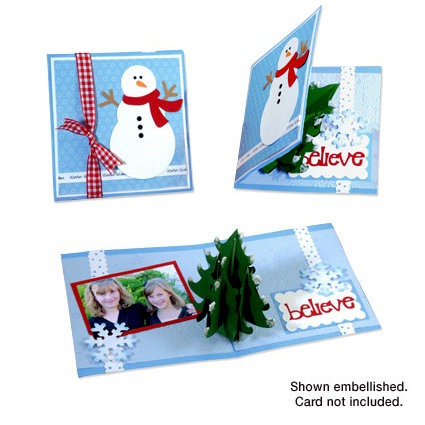 Sizzix - Bigz Die - Christmas Collection - Extra Long Die Cutting Template - 3-D Pop Up - Christmas Tree, CLEARANCE