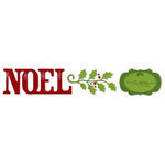 Sizzix - Sizzlits Decorative Strip Die - Christmas Collection - Die Cutting Template - Phrase - Noel with Holly and Frame, CLEARANCE
