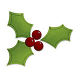 Sizzix - Bigz Die - Christmas Collection - Die Cutting Template - Holly and Berries, CLEARANCE