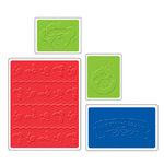 Sizzix - Textured Impressions - Build-A-Bear Workshop Collection - Embossing Folders - Beary Christmas Set, CLEARANCE
