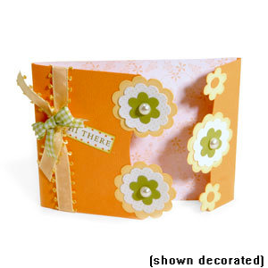 Sizzix - Bigz Die - Extra Long Die Cutting Template - Card, A2 Gate Fold with Flower Silhouette