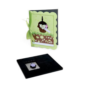 Sizzix - Bigz Pro Movers and Shapers Die Set - 2 Dies - Card, A6 Scallop and Cupcake