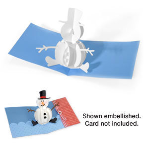 Sizzix - Bigz Die - Extra Long Die Cutting Template - 3-D Pop Up - Snowman