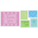 Sizzix - Textured Impressions - Embossing Folders - Thank You Set 3