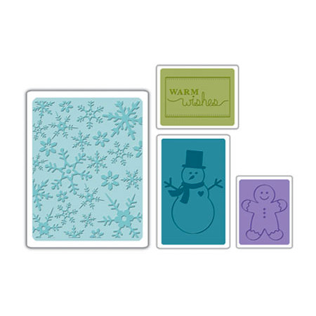 Sizzix - Textured Impressions - Embossing Folders - Christmas Set 3