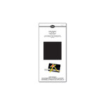 Sizzix - Little Sizzles - 6 x 13 Mat Board Pack, 6 Black Sheets